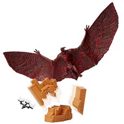 "Godzilla King of The Monsters: 6"" Rodan Articulated Action Figure with Osprey Helicopter & Destructible City: Toys & Games"