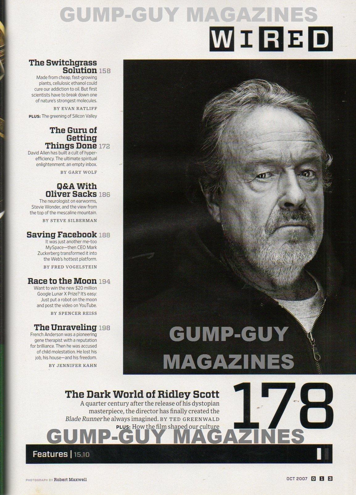 Wired Magazine 2007 THE DARK WORLD OF RIDLEY SCOTT: HOW BLADE RUNNER ...