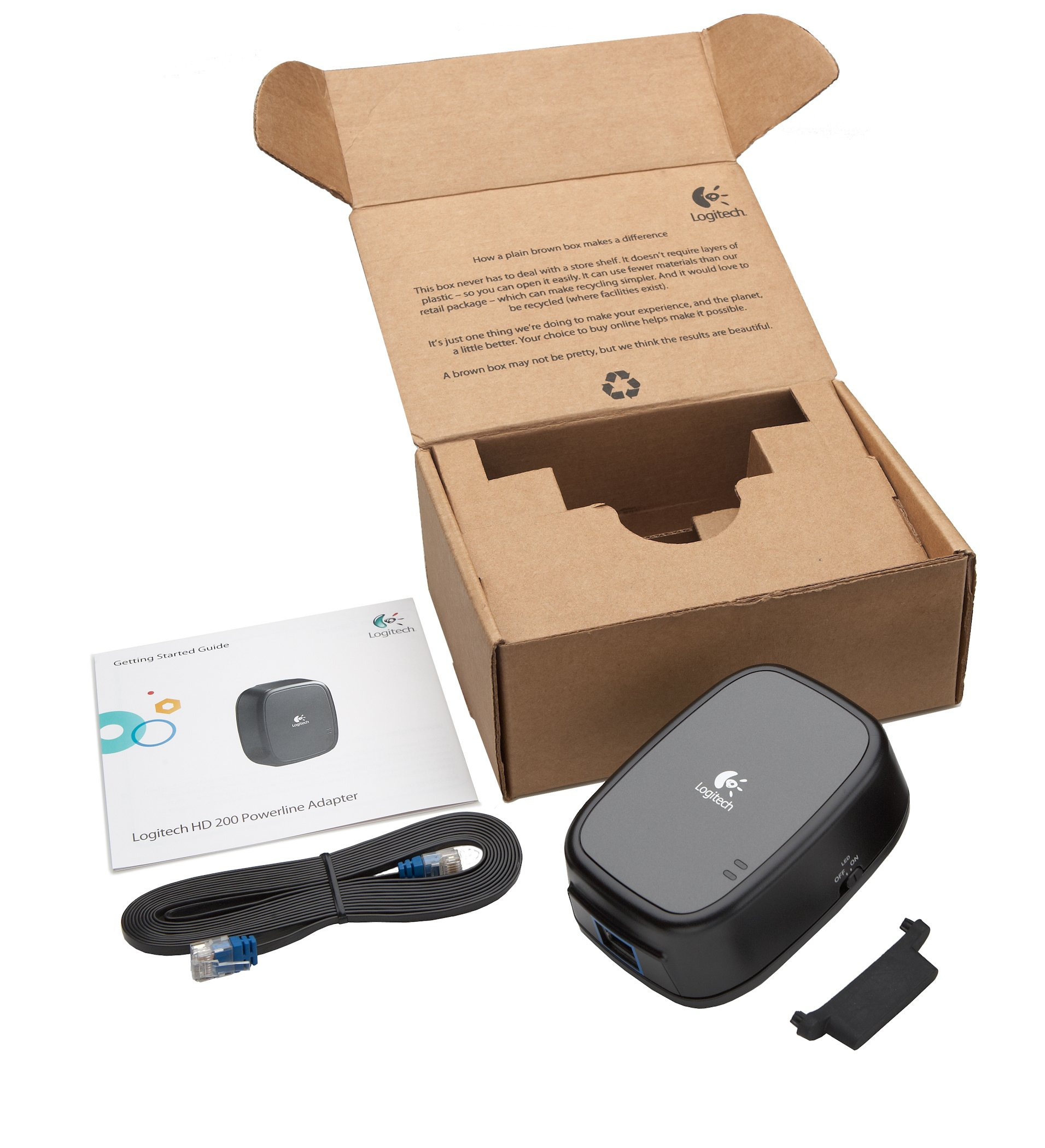 Logitech HD Powerline 200 Adapter - Connect Devices to Internet Using Existing Power Outlets by Logitech (Image #5)
