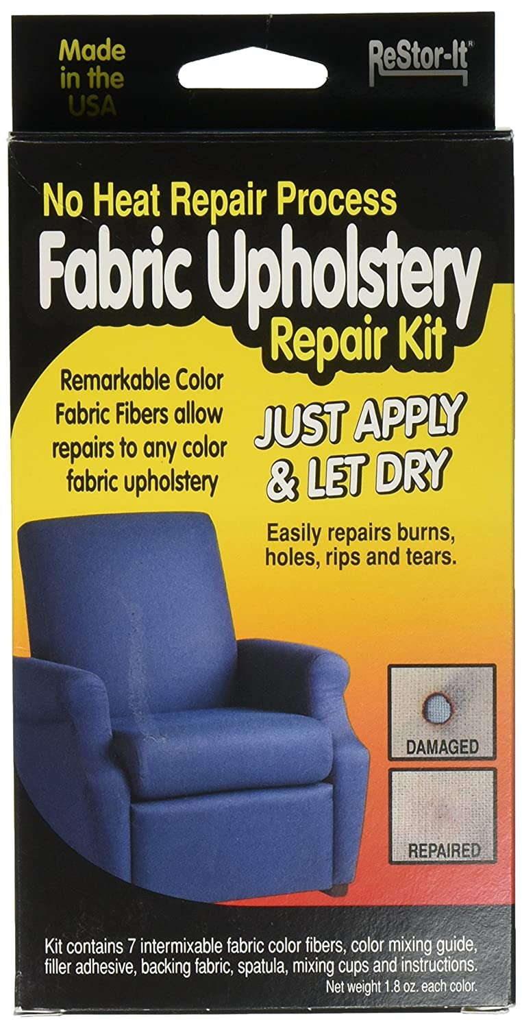 Amazon.com: ReStor It Fabric Upholstery Repair Kit, 7 Intermixable Colors,  Mixing Cup, Applicator, Color Mixing Guide (18075)