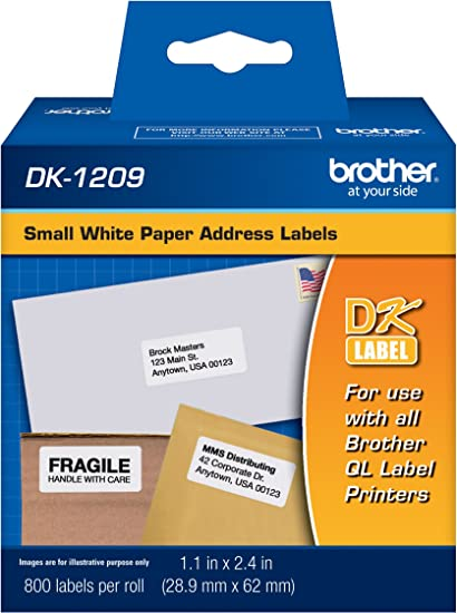 MS Imaging Supply Label Tape Replacement for Brother DK-1203 DK1203 Black on White, 2 Pack