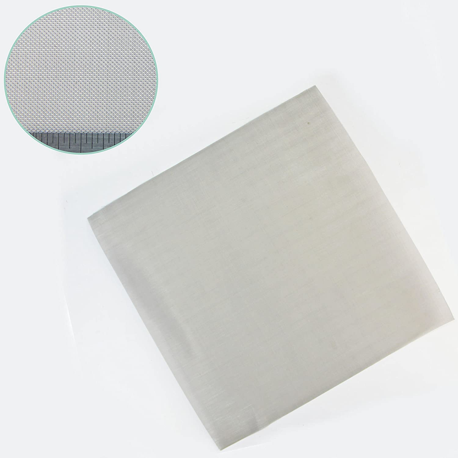 Fine - #50 x 0.2mm (50 Holes Per Linear Inch) - Stainless Steel Woven Mesh by THE MESH COMPANY - 300 x 300mm Sheet