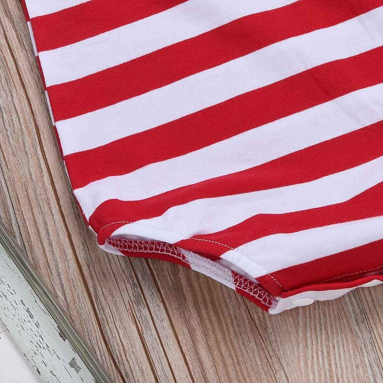 LiwnzhenSH Baby Boy Girl Bodysuit Climbing Clothes USA Flag American Stars Stripes Infant Rompers Jumpsuit