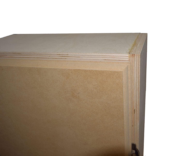 Amazon.com: Gabinete de planchado integrado de madera ...