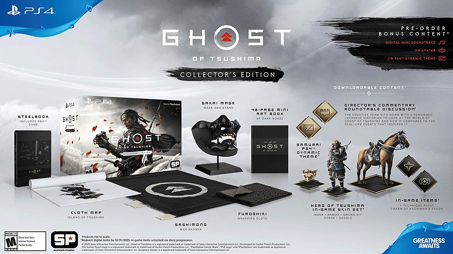 Amazon Com Ghost Of Tsushima Collector S Edition Playstation 4 Sony Video Games