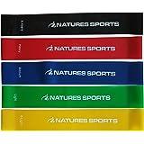 Premium fasce per resistenza (set da 5) Best Exercise Band set per allenamento, esercizi di resistenza e fisioterapia Routines.