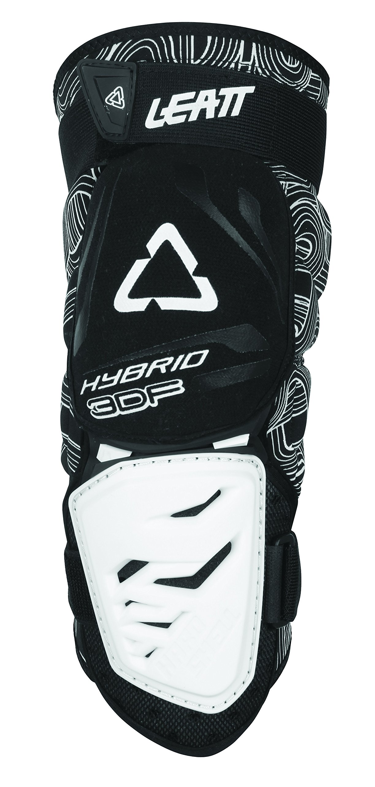Leatt 3DF Hybrid Knee Guard (Black/White, Large/X-Large)