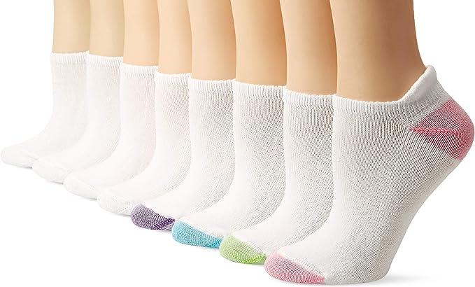 Hanes womens ComfortBlend 8 Pack Heel Shield Socks Dress & Casual Socks
