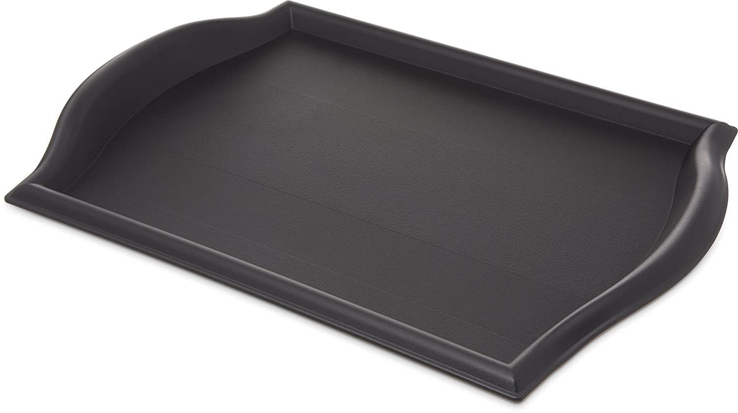 "Carlisle 1217BT03 Bistro Plastic Cafe Tray, 17"" x 12"", Black (Pack of 12)"