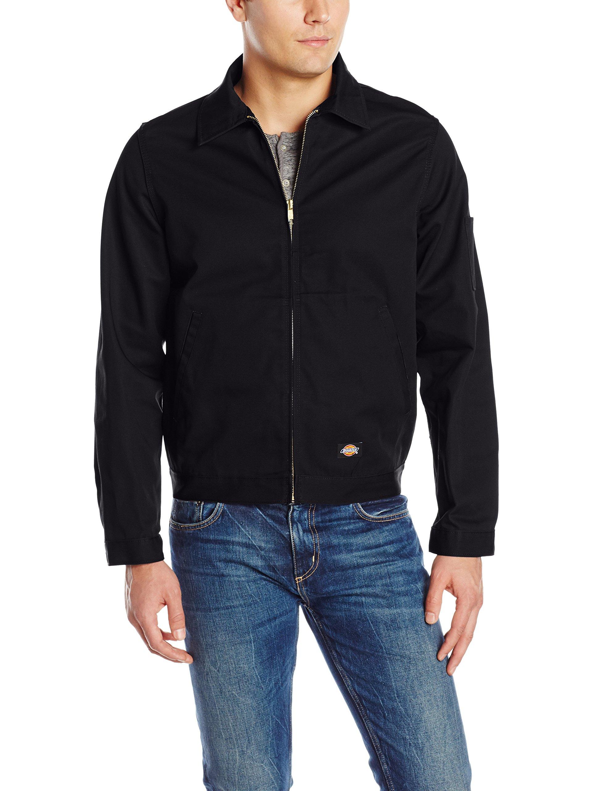 Dickies Men's Unlined Eisenhower Jacket, Black, Large by dickies