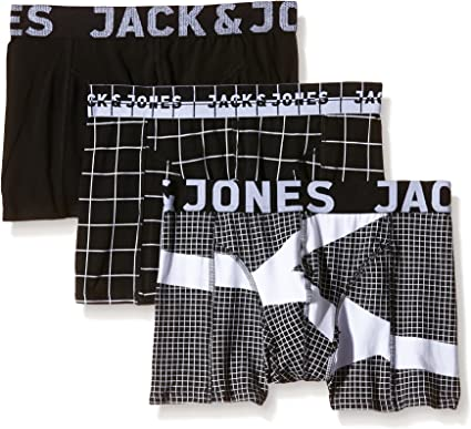 Jack & Jones JJJAPANESE Mono Trunks 3 Pack Bóxer, Mehrfarbig ...
