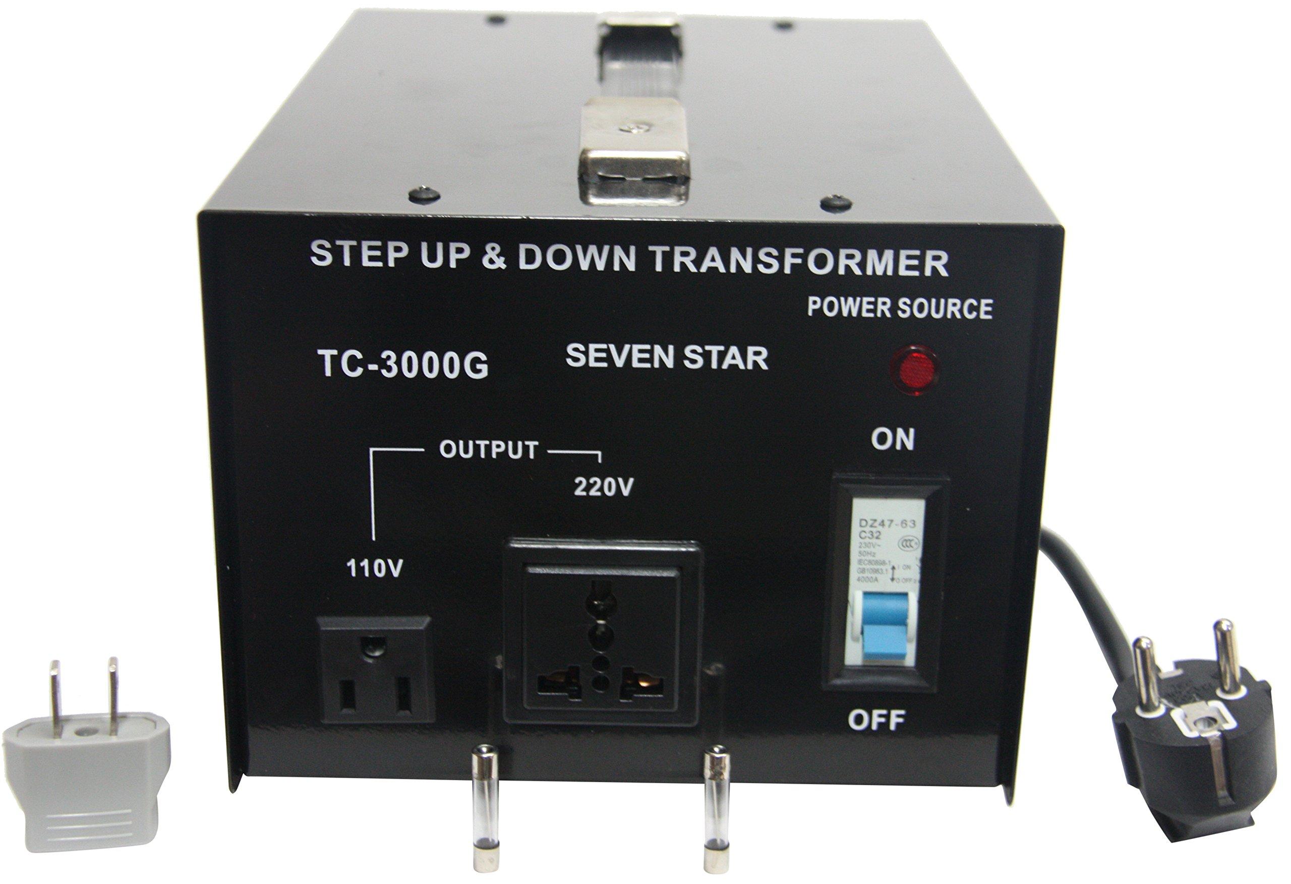 SEVENSTAR TC 3000 110/220V AC-3000 Watt Transformer