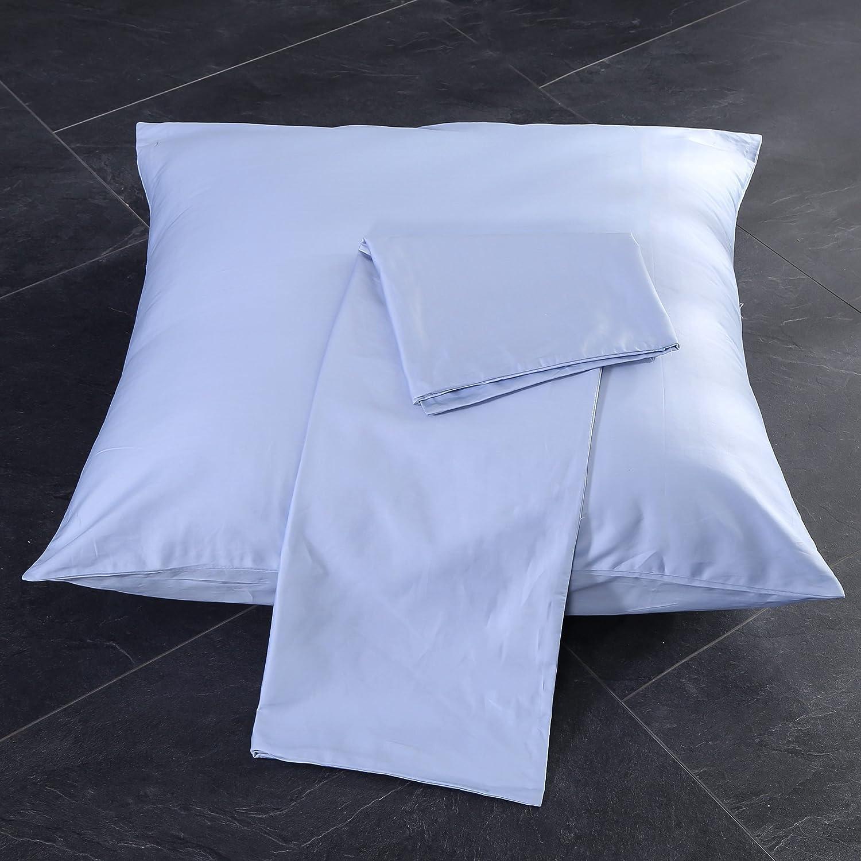 Tissu Haute densit/é 60 Fili // cm2 Blanc, 50/_x/_80/_cm Unimall Housse de Couette Double en Coton /égyptien pour lit Deux Places 9 Couleurs