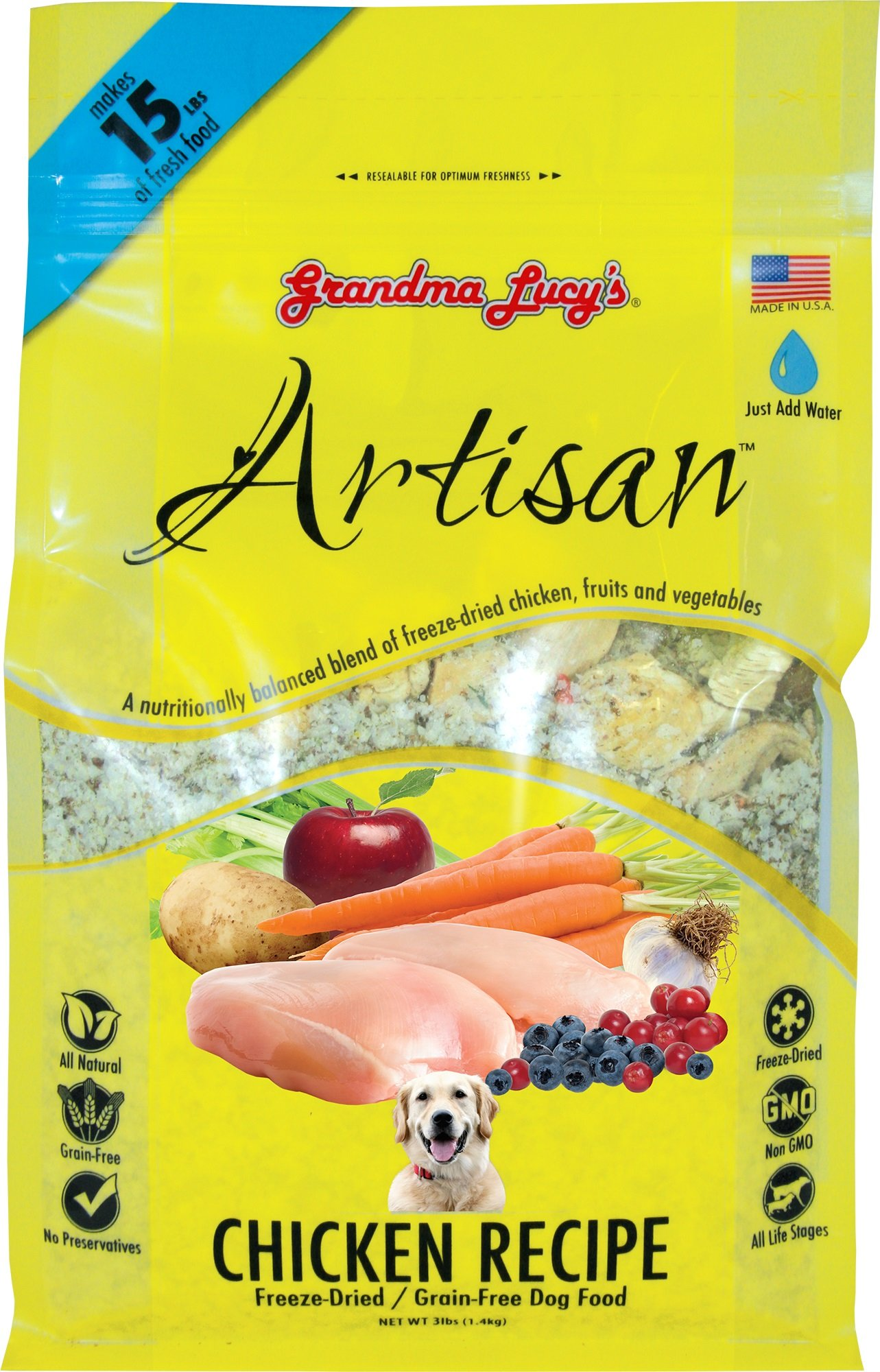 Grandma Lucy's - Artisan Chicken Dog Food - 3Lb by grandma lucy's