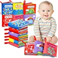 Innoo Tech Cloth Books Baby, My First Non-Toxic Soft Cloth Book, Educational Toys Gifts for First Year 1 Year Old Babies Infants, Toddlers Touch Feel Activity (6 Set)