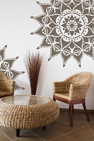 Nashik stencil per mandala - Stencil indiano per mobili ...