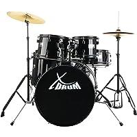 """XDrum Rookie 20"""" batería de estudio set completo negro"""