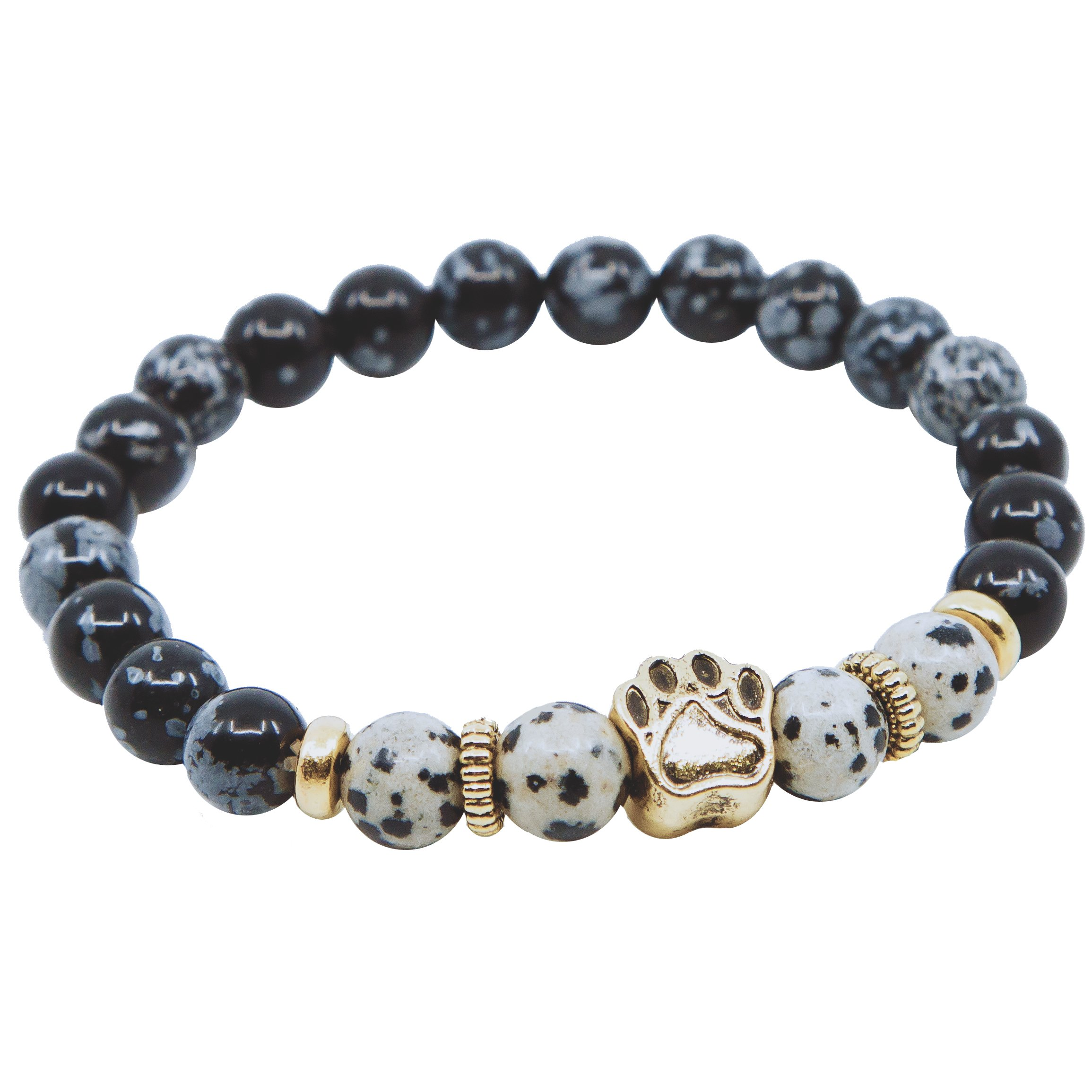 My Dog is My Light Natural Stone Bracelet by iHeartDogs | Provides 7 Meals to Shelter Dogs