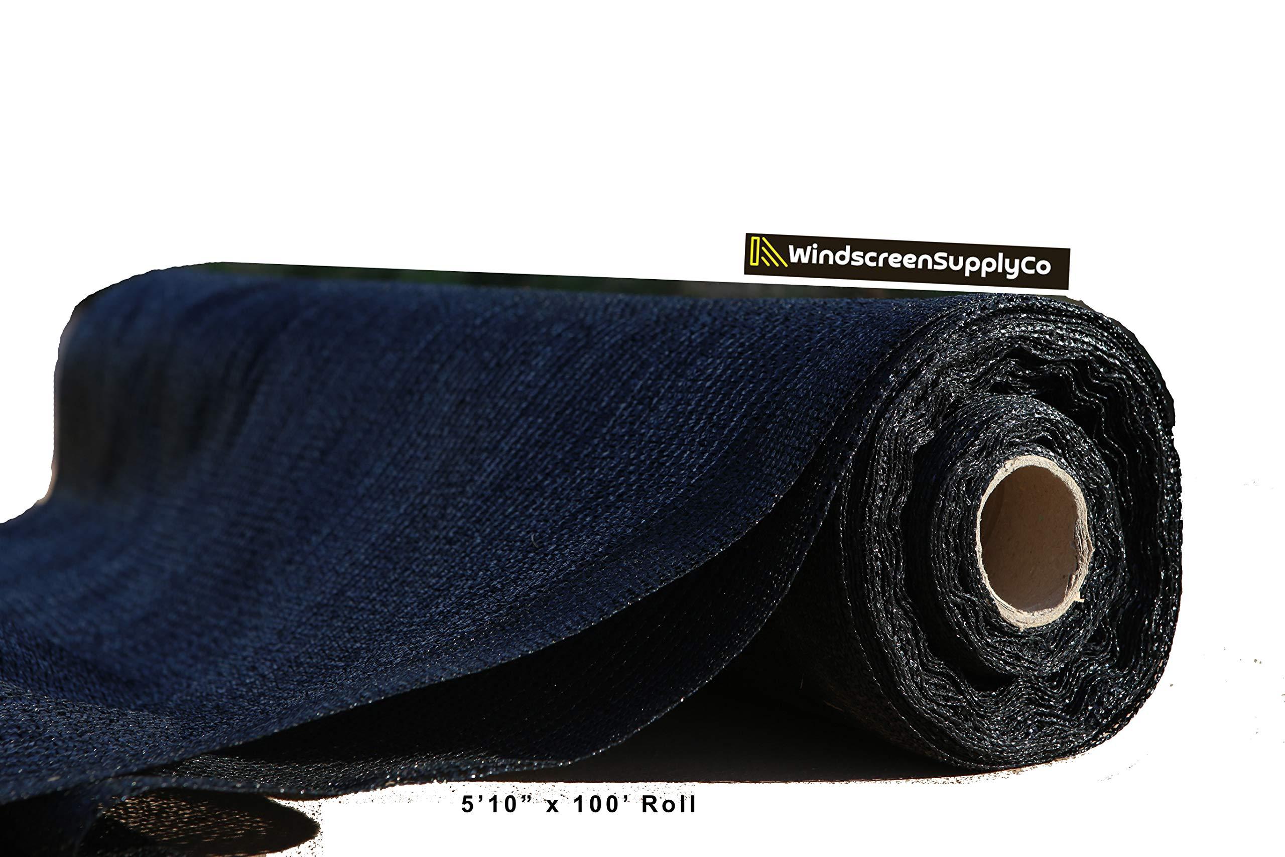 WindscreenSupplyCo 5'10'' x 100 ft. Bulk Shade Cloth 60% Black (1) by WindscreenSupplyCo