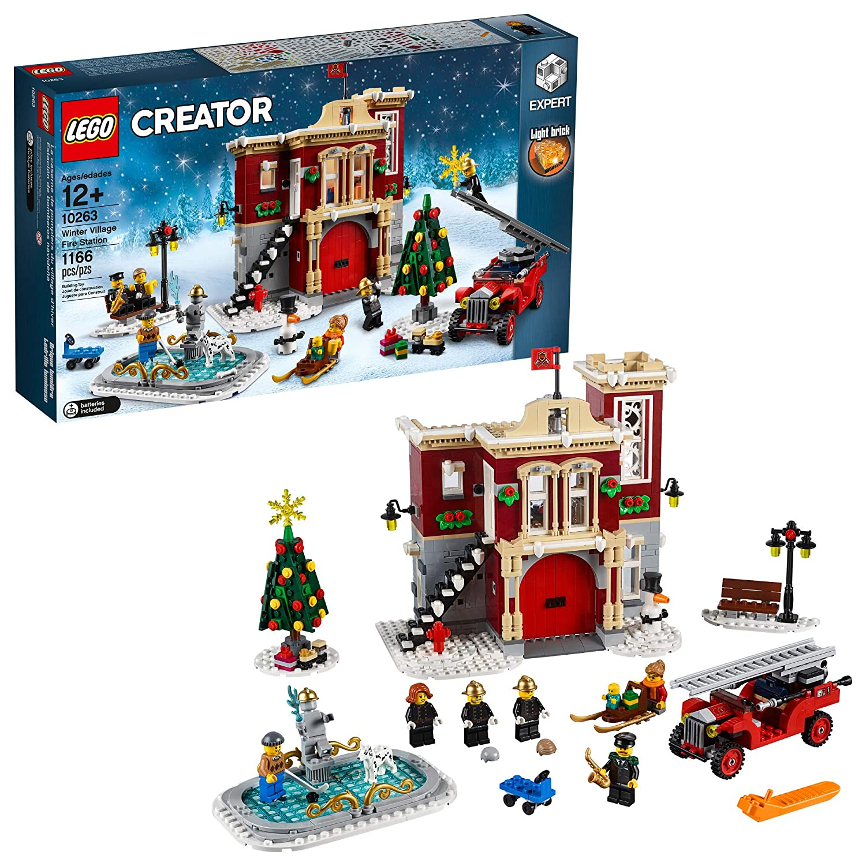 LEGO Creator Expert Winter Village Fire Station 10263 Building Kit, 2019  (1166 Pieces)