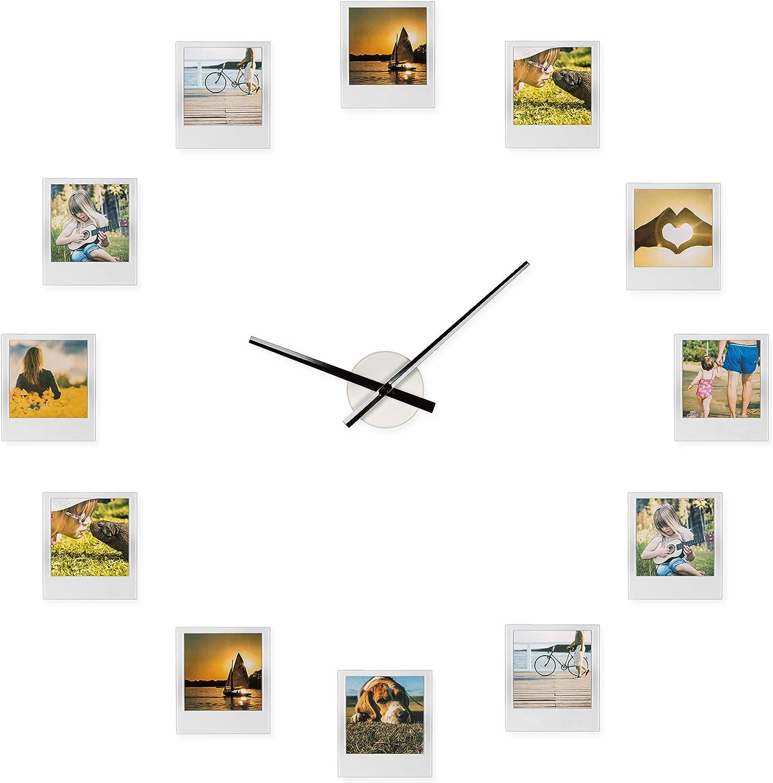 Reloj de Froster Impressions – Reloj con marco de fotos, múltiples aperturas, collage de fotos multifoto, regalo para novia, novio, abuelos, padres, San Valentín, regalo de boda y matrimonio