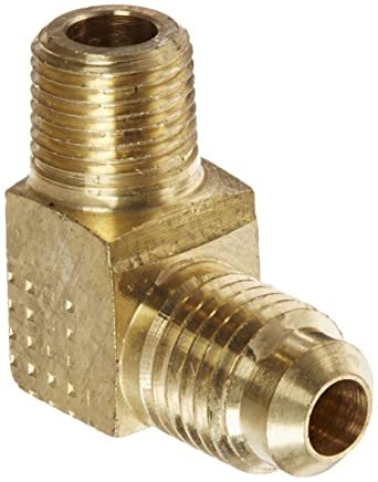 1//4 NPT Female x 1//4 SAE Male 1//4 NPT Female x 1//4 SAE Male Eaton Weatherhead 46X4X4 Brass CA360 SAE 45 Degree Flare Adapter
