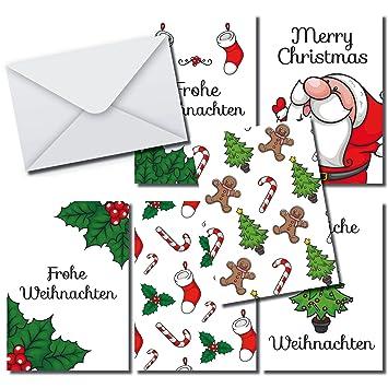 Moderna divertido Tarjetas de Navidad Set 36 tarjetas DIN A6, 36 ...