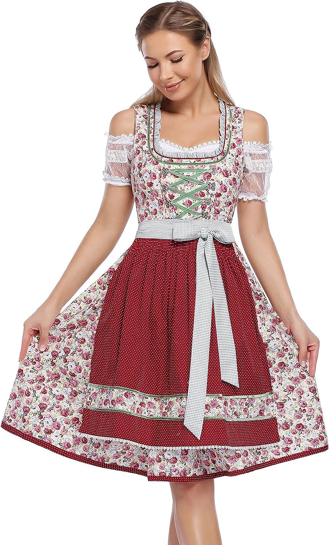 GloryStar Women's Ultra-Cheap Deals German Dirndl Traditional Oktob Bavarian Dress Cheap sale