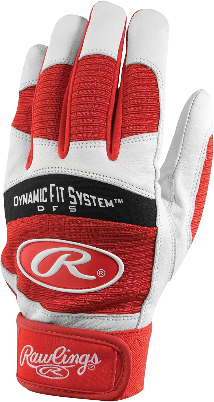 Rawlings Players Workhorse 950 Series Batting Glove Baseball//Softball Red
