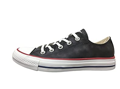 805a1bf3e11493 Converse Chuck Taylor All Star Sheen Wash Ox Black Almost Black White (8.5