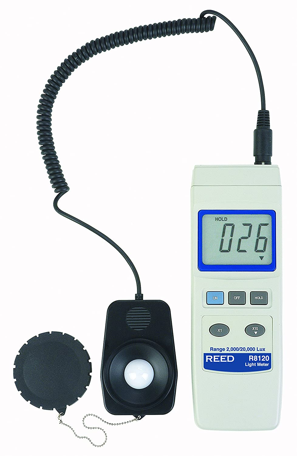 REED Instruments R8120 Lux Light Meter with Detachable Sensor, 20,000 Lux