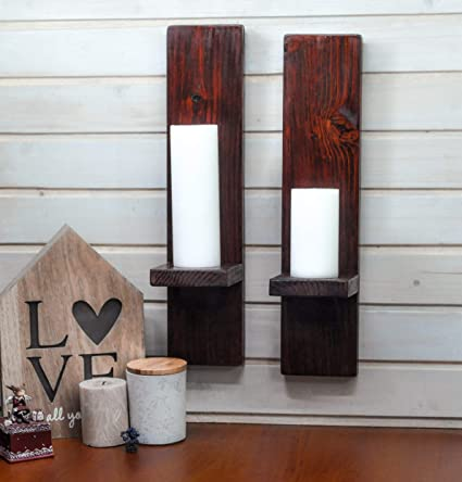 Amazon Com Rustic Wall Sconces Or Candle Holders In Dark
