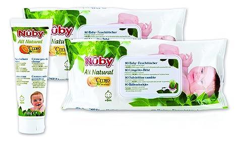 Nûby All Natural cgpack3 Juego de cuidado de bebé, color blanco