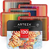 Arteza Professional Watercolor Pencils, Set of 120, Multi Colored Art Drawing Pencils in Bright Assorted Shades, Art Supplies