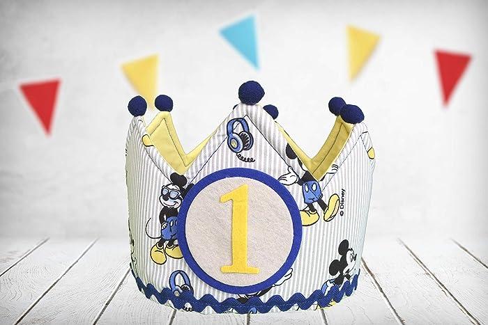 Corona cumpleaños Mickey Mouse (Incluye todos los números ...