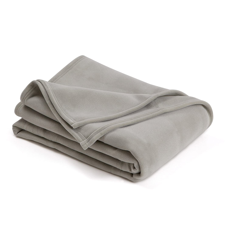 amazoncom the original vellux blanket  fullqueen soft warm  - amazoncom the original vellux blanket  fullqueen soft warminsulated petfriendly home bed  sofa  tornado grey home  kitchen