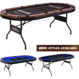Barrington Collection Poker Table with Padded Rails and Cup Holders – Available in Multiple Styles