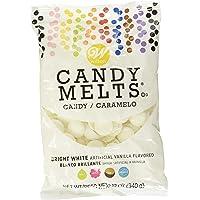 Wilton Candy Melts Flavored 12 Oz, Bright White, Vanilla,Multi-Colored