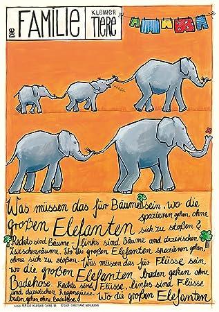 Babyzimmer Len poster für kinderzimmer babyzimmer mit kinderlied elefanten amazon