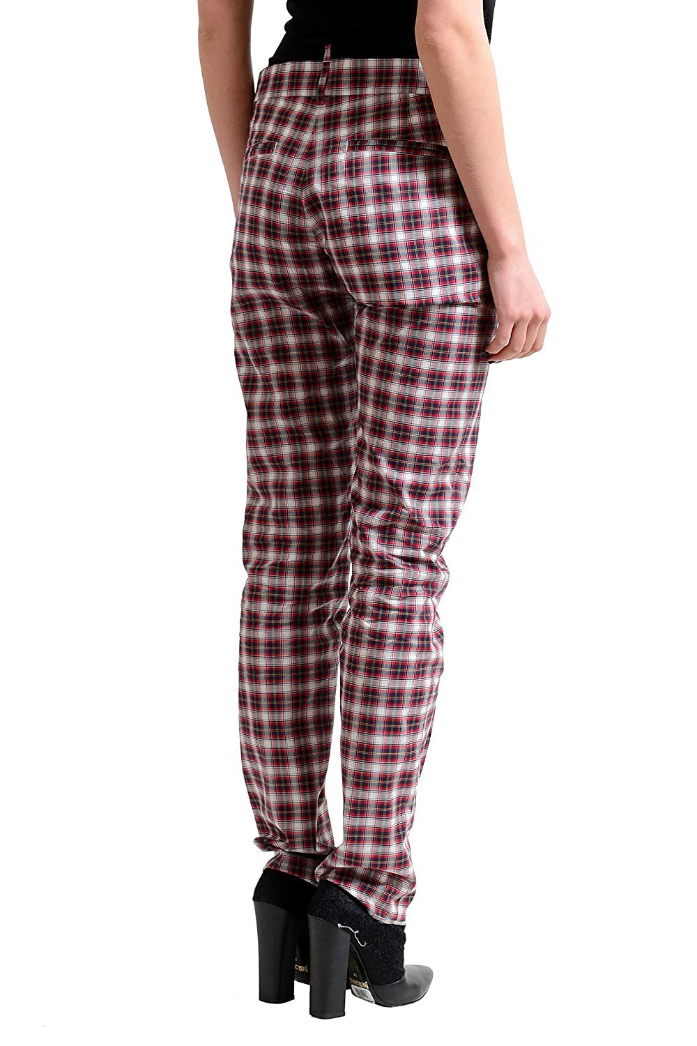 Dsquared2 Multi-Color Checkered Women's Casual Pants US 6 IT 42