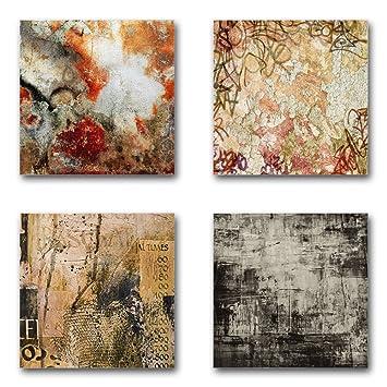 Attraktiv Abstrakt   Set A Schwebend, 4 Teiliges Bilder Set Je Teil 29x29cm,