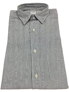 ASPESI chemise homme rayé blanc anthracite, avec manches long et poche,  modèle RÉDUIT 95d6721c2865