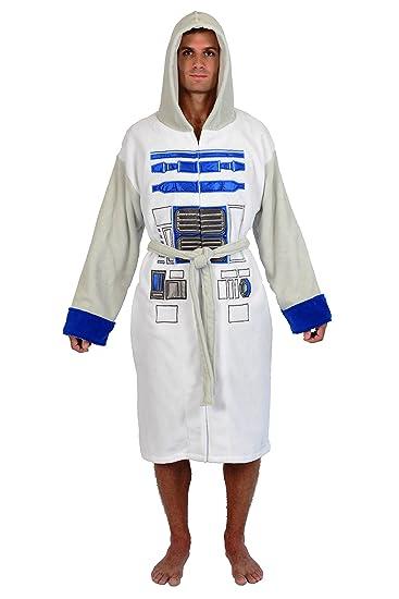 Robe Factory Men's Star Wars R2D2 Fleece Robe, White, OS