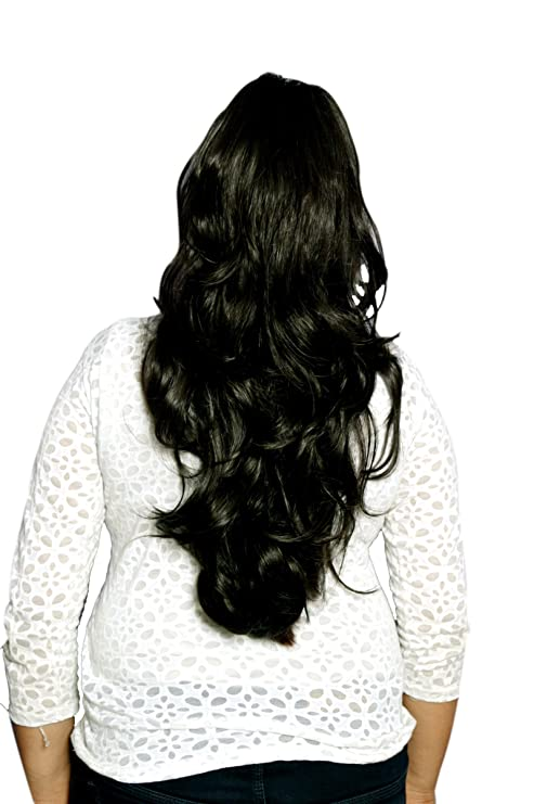 Homeoculture 20 Inches Black Synthetic Hair Extension For Instant
