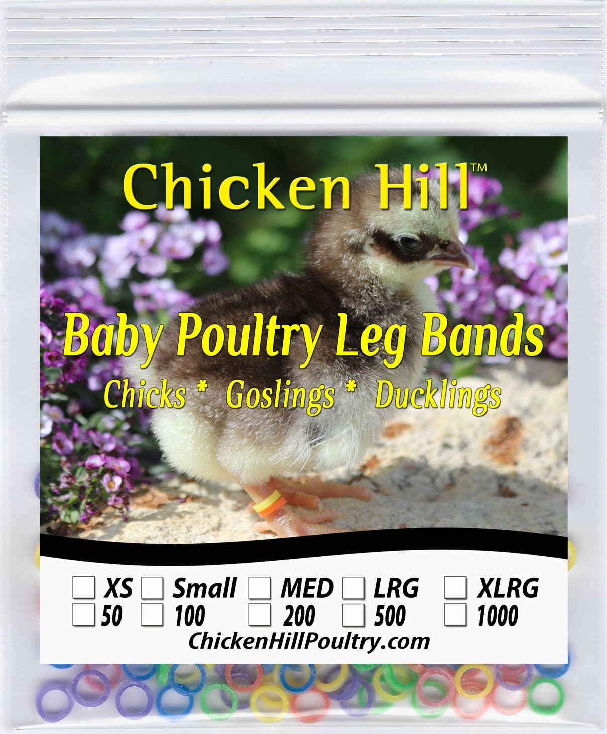 "100 to 500 Baby Poultry Leg Bands 5/16"" Large Size 5 Chick (100) 8113tkgiS7L"