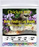 """100 to 500 Baby Poultry Leg Bands 5/16"""" Large Size"""