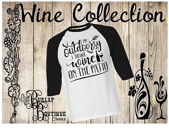 432cfdb8 Handmade I'm outdoorsy I drink Wine on the porch BELLA + CANVAS Unisex 3