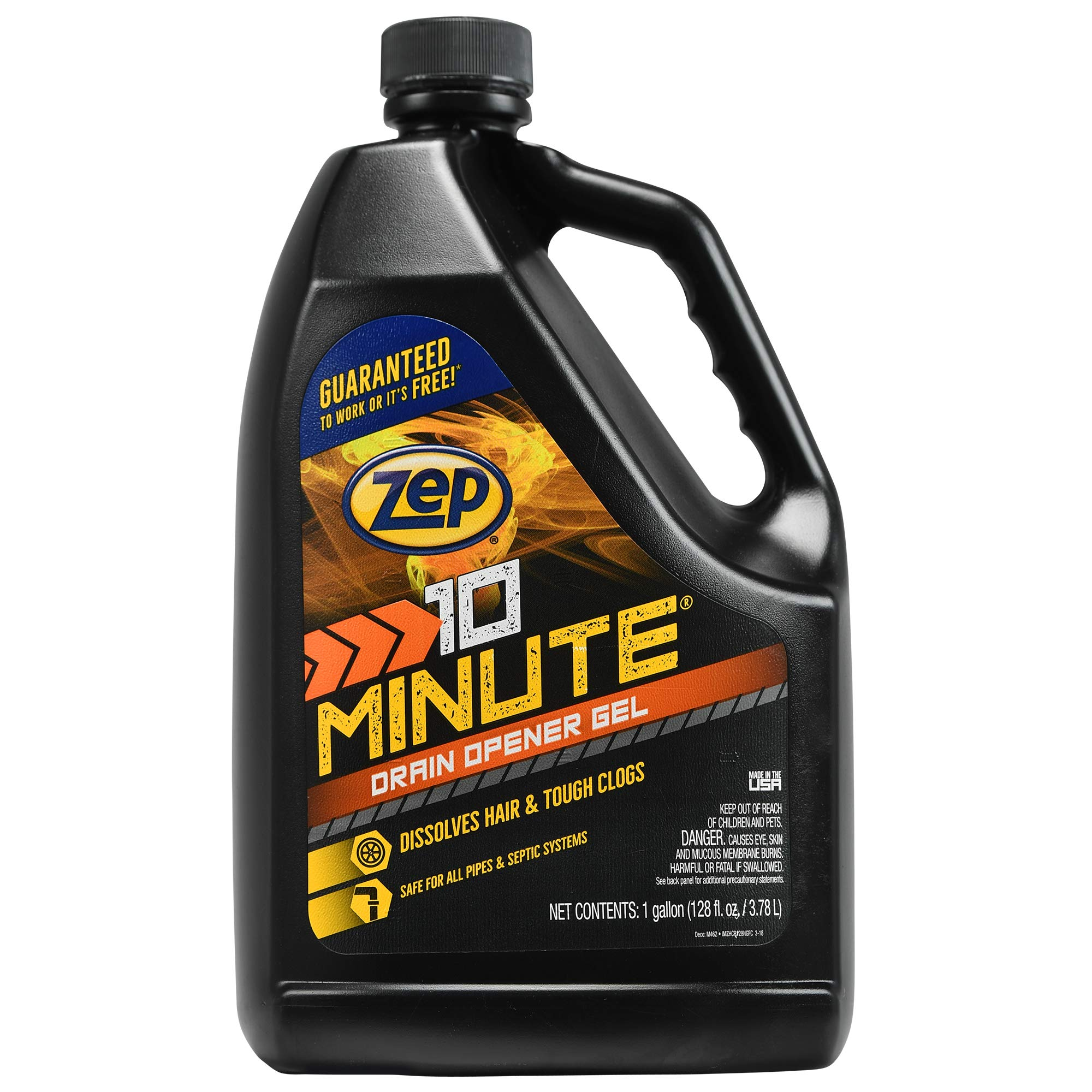 Zep Commercial ZHCR128NG 1 Gallon 10 Minute Hair Clog Remover Gel