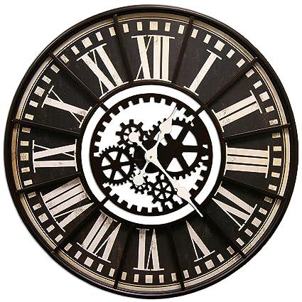 Amazoncom Hdc International Large Wall Clock With Decorative Gear