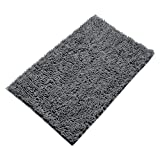 Vdomus Non Slip Microfiber Shag Bathroom Mat 20 X 32 Inches (Grey)